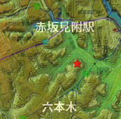 赤坂の地名の由来と地形図
