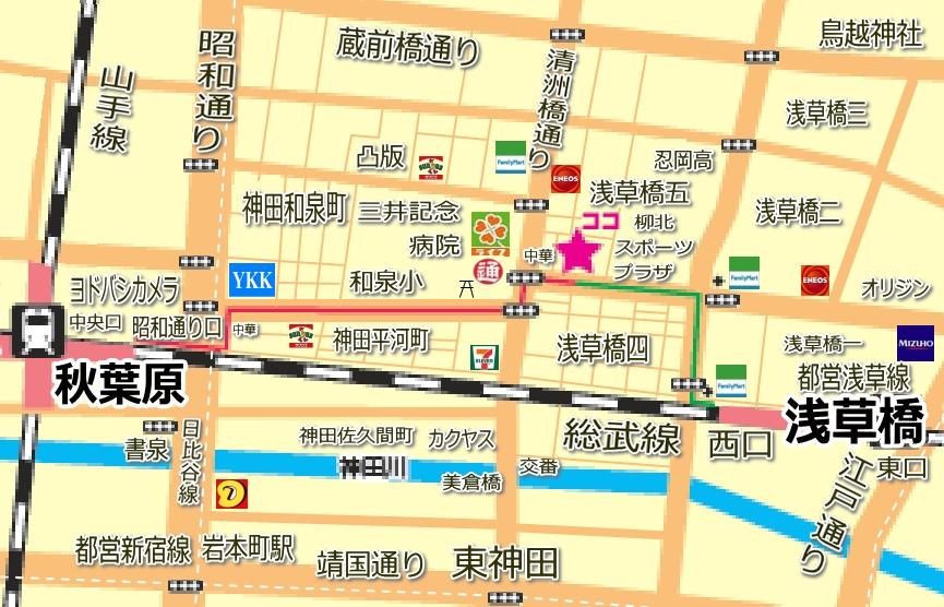 秋葉原スクエアビルの地図